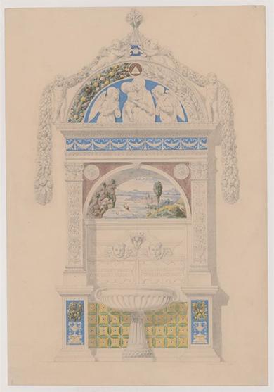 Stilkopie Valentin Teirichs von 1866, Lavabo-Brunnen Giovanni della Robbia von 1498 © MAK