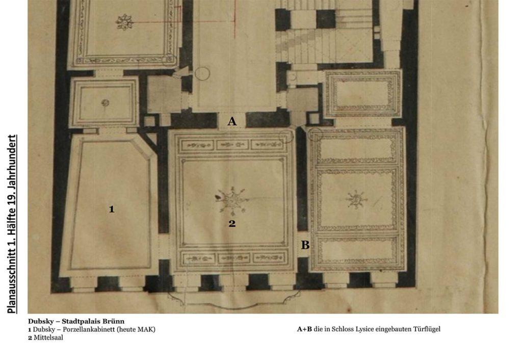 Grundriss des Palais Dubsky, Brünn