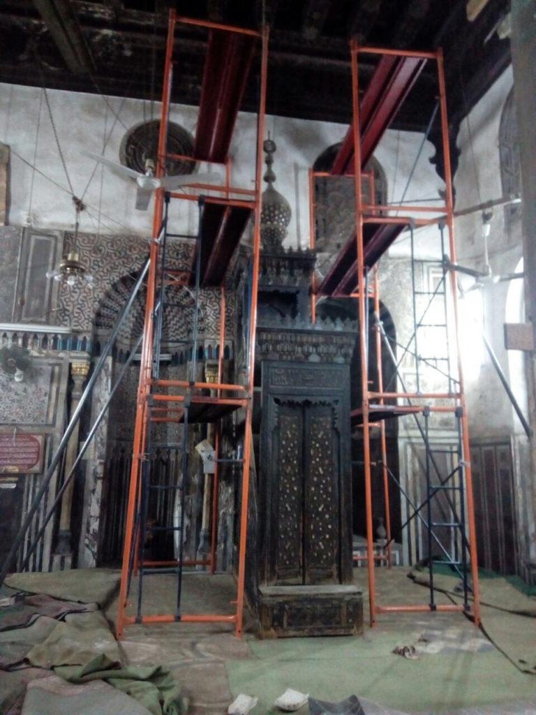 Minbar from the Mosque of Qadi Abu Bakr b. Muzhir, Mamluk Sultanate in Egypt (1250–1517), Cairo, 1480 © Egyptian Heritage Rescue Foundation Cairo Minbar MAK