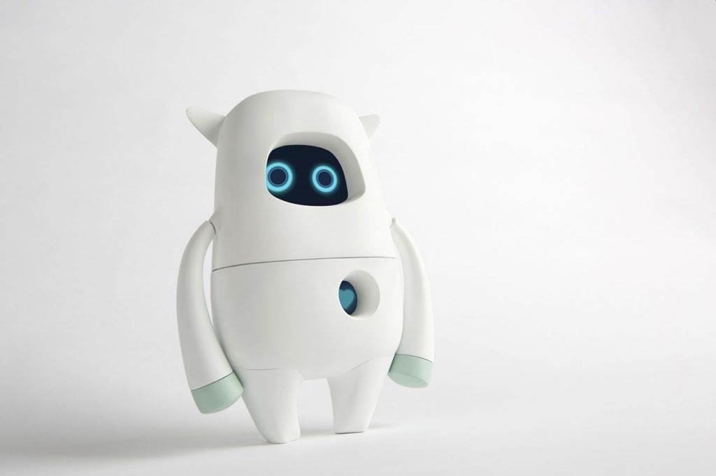 Musio is a robot for everyday use with a design aimed specifically at children and adolescents. In order to adapt to the age of its user, Musio has three settings: simple, smart, and genius. It can help its user learn English, serve as an appointments calendar, prevent boredom, or, in conjunction with other household devices, function as a control centre for the Smart Home.