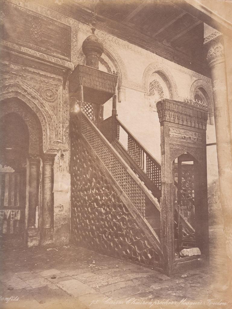 Felix Bonfils Chaire à prêcher, Mosquée Toulon [Chair for preaching in the Ibn Tulun Mosque], Cairo, ca. 1870 © MAK Cairo Minbar MAK