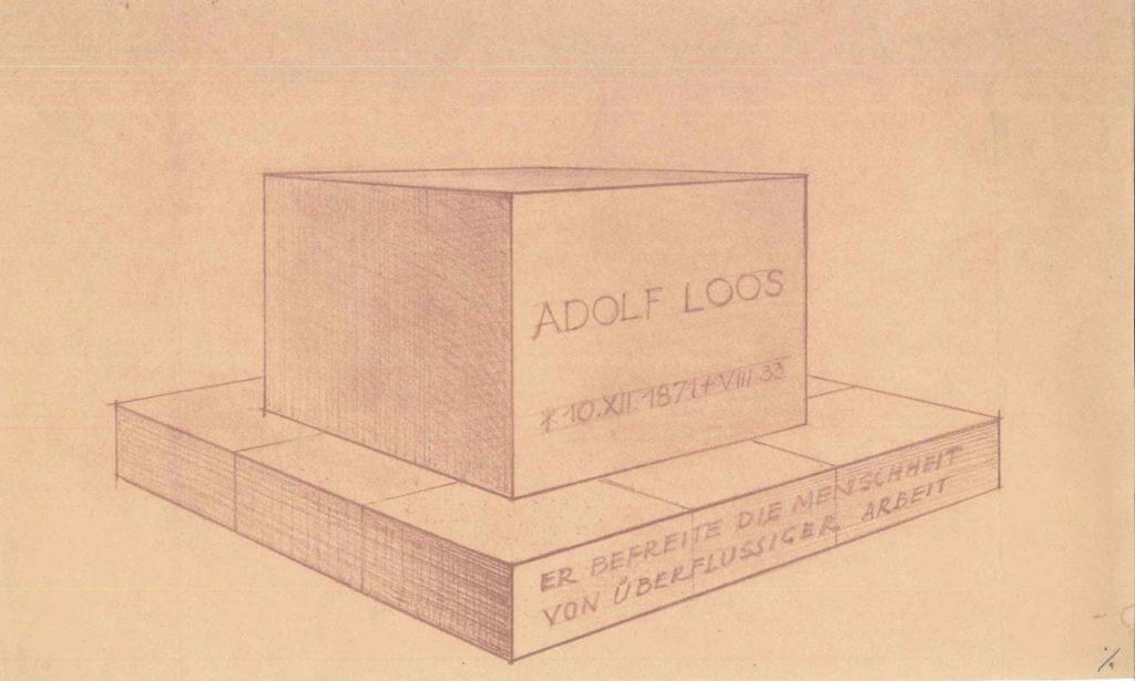 Heinrich Kulka nach Adolf Loos, Entwurf für das Grabmal von Adolf Loos