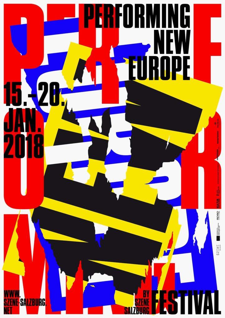Designstudio Beton, Performing New Europe 2018, Szene Salzburg © Beton/100 Beste Plakate e.V. 100 Beste Plakate 17