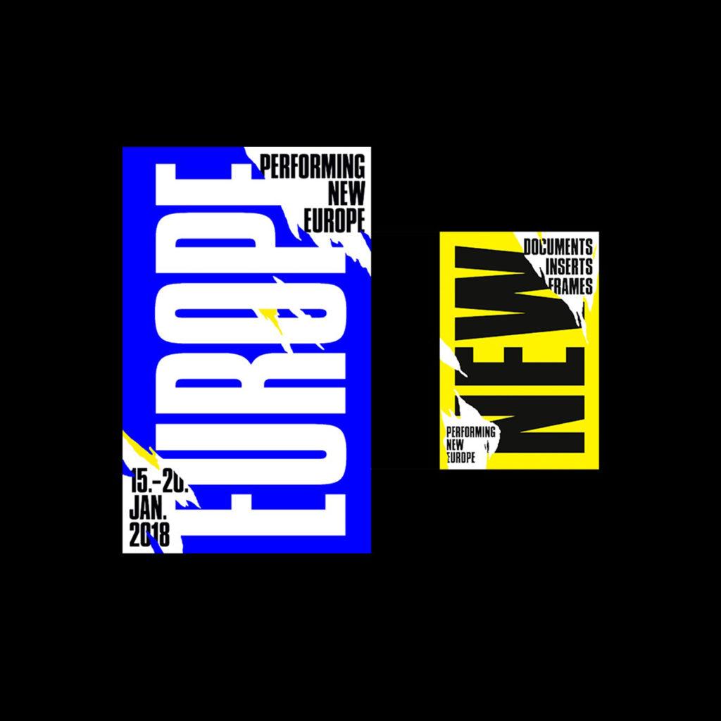 "Programmheft, ""Performing New Europe"", Cover © Beton 100 Beste Plakate 17"