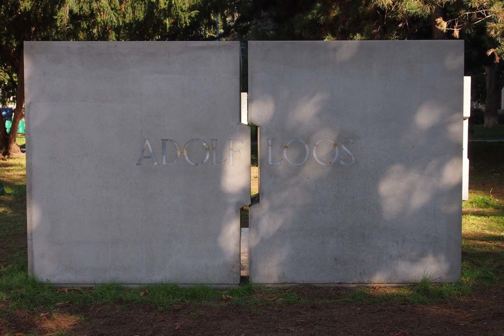 Jaroslav Sedlák – Oldřich Morys, Denkmal für Adolf Loos in Brünn