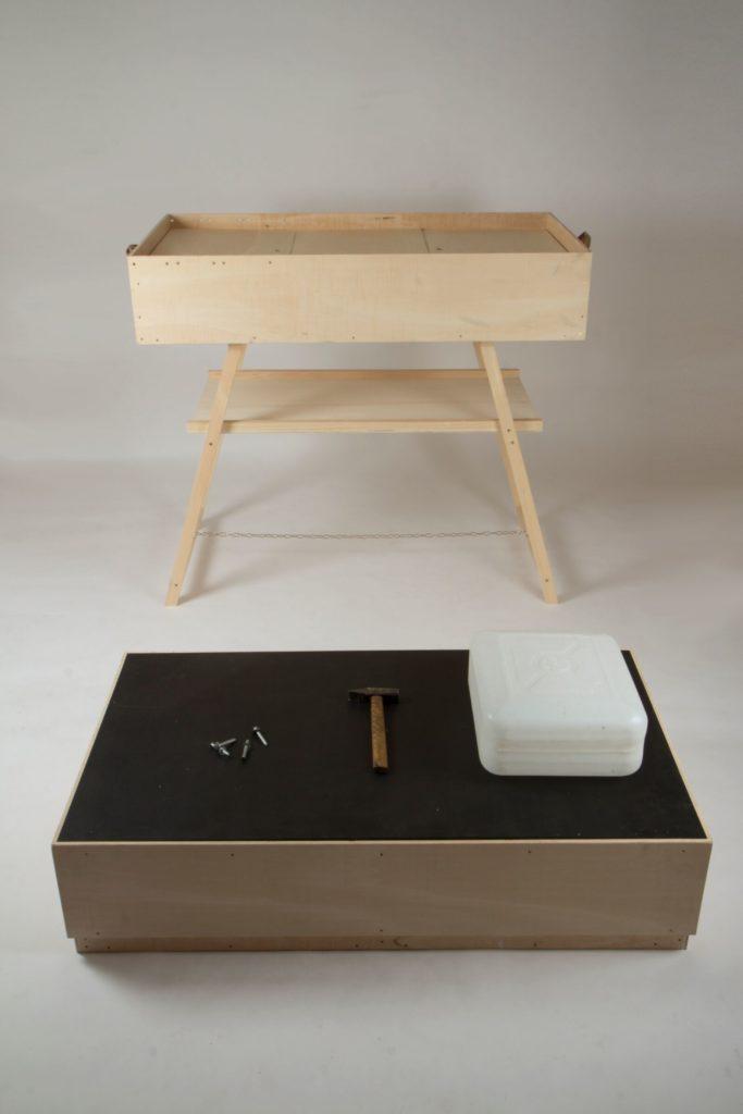 Mobile Werkstatt für Produktions- Perfomance zum Re-Present, 2013, Foto: breadedEscalope