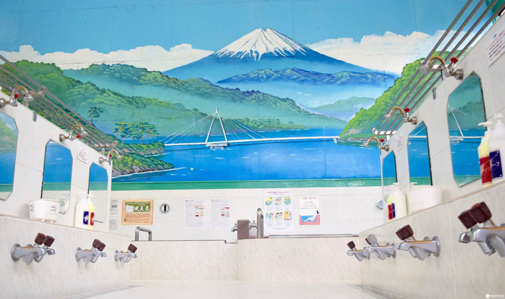 Fuji-Wandmalerei in einem öffentlichen Bad, © Susanne Klien Fuji in der MAK-Sammlung