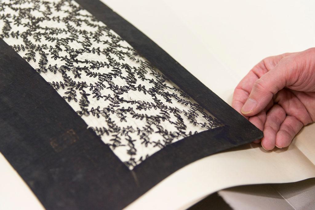 Färbeschablone (Katagami), 19. Jh. MAK-Depot © MAK/Mona Heiß Katagami im MAK