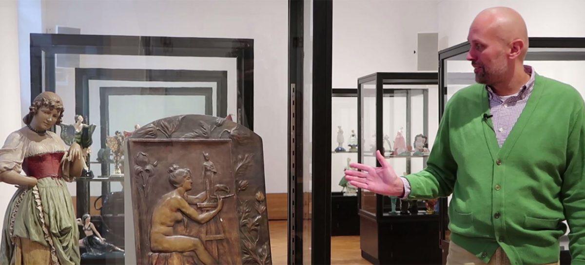Ein ungewöhnliches Objekt in der MAK-Ausstellung FIRMA GOLDSCHEIDER. Wiener Keramik 1885–1938