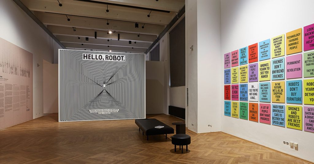 Exhibition View VIENNA BIENNALE 2017: Robots. Work. Our Future Hello, Robot. Design between Human and Machine, MAK Exhibition Hall © Peter Kainz/MAK