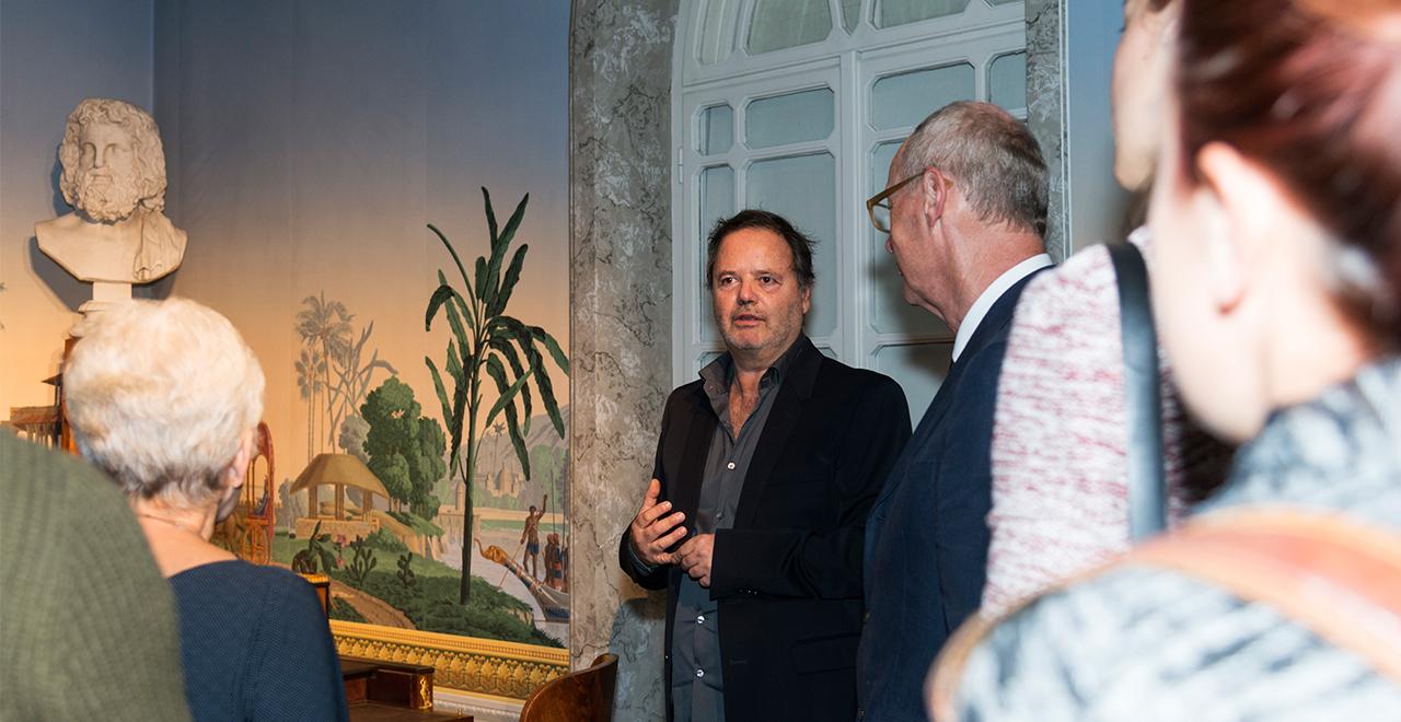 Ausstellungseröffnung MAK ART SALON #01.Clegg & Guttmann. Biedermeier reanimiert, 20. September 2016 Martin Guttmann (in der Mitte) © MAK/Mona Heiß
