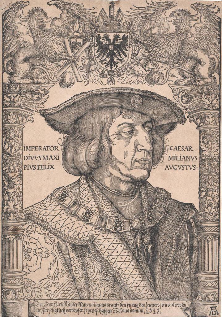 Portrait von Kaiser Maximilian I., nach Albrecht Dürer Deutschland 16. Jahrhundert, Holzschnitt KI 264 ©MAK Reisebericht Hans Herzheimer