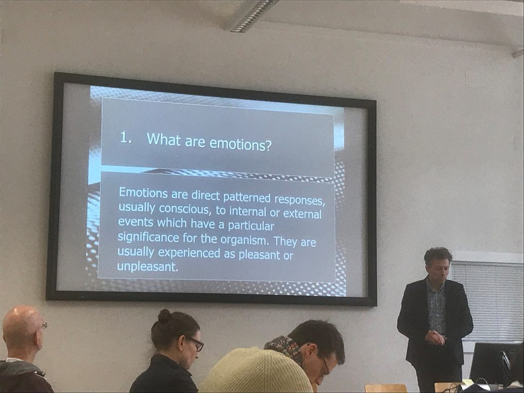 """What are Emotions?"", Session Talk with Philip Brey, 16 Feb 2018 © Marlies Wirth"