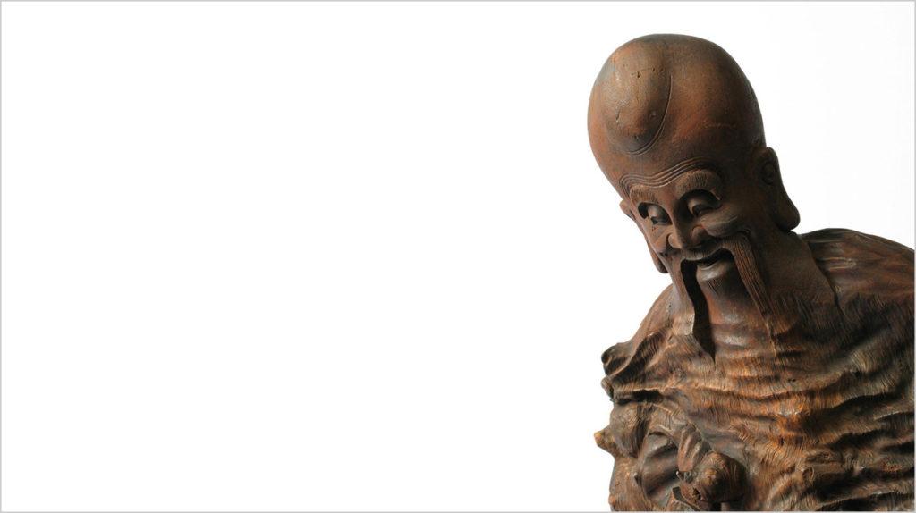 Shoulao (Gott des langen Lebens) China, 19. Jahrhundert, Wurzelholzschnitzerei © MAK Laozi