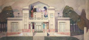 Fassadenentwurf für das Casino di Cura, Otto Prutscher, um 1910