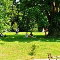 Der Park des Geymüllerschlössels mit seinen zeitgenössischen Skulpturen