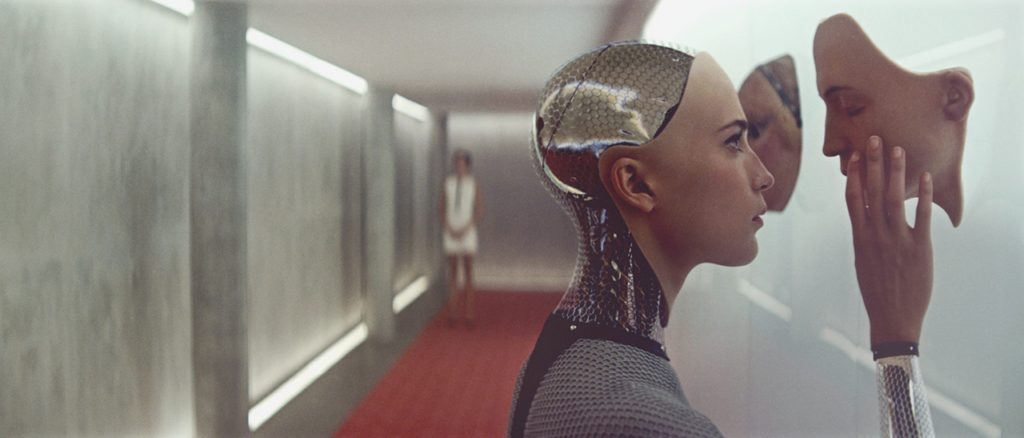 Alex Garland, Ex Machina Object from Hello, Robot. Design between Human and Machine Filmstill
